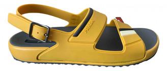 Prada Yellow Rubber Sandals