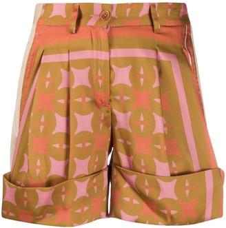 Jejia High-Waisted Geometric Print Shorts
