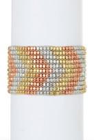 Stephan & Co Beaded Stretch Metal Bracelet