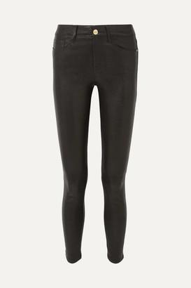 Frame Le High Skinny Leather Pants - Black