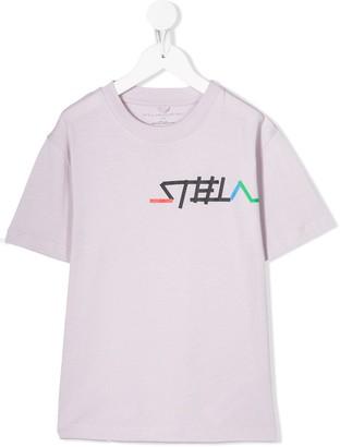 Stella Mccartney Kids logo-print organic cotton T-shirt