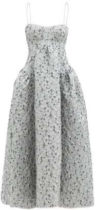 Cecilie Bahnsen Leika Lily-matelasse Dress - Silver