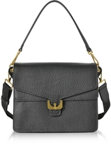 Coccinelle Ambrine Black Bubble Leather Small Satchel Bag
