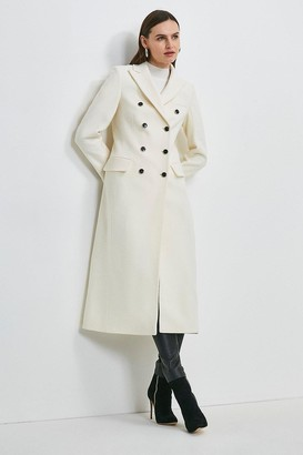 Karen Millen Italian Wool Rich Tailored Double Breasted Coat
