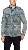 Buffalo David Bitton Men's Jistanzi Full Zip Washed Denim Fashion Jacket