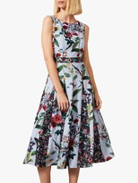 Phase Eight Trudy Patched Floral Dress, Sky/Multi