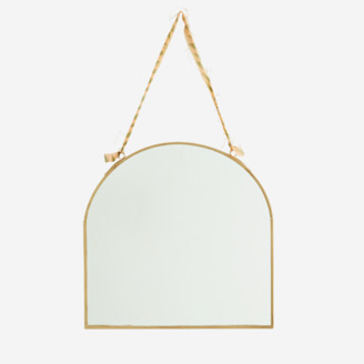 Large or Small Nkuku Kiko Diamond Brass Mirror Gold Edge Wall Hung Hanging