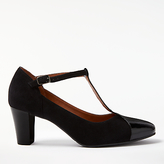 John Lewis Annie T-Bar Court Shoes, Black
