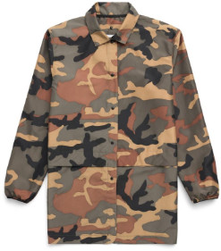 Herschel Woodland Camo Voyage Womens Long Coach Jacket - m