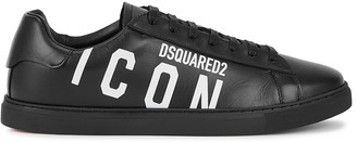 DSQUARED2 New Tennis printed leather sneakers