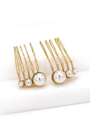 Brides & Hairpins Feya Set of 2 Imitation Pearl Hair Combs