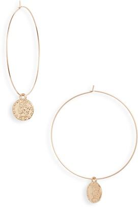 Set & Stones Monaco Coin Charm Hoop Earrings