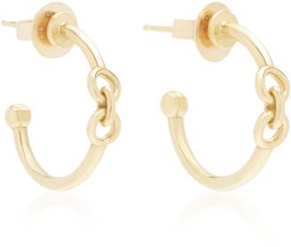 Black and gold hoop earrings Brass and polymer clay earrings Dangle earring Large hoop Minimalist earrings Minimal jewelry Modern earring