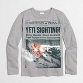 J.Crew Factory Boys' long-sleeve yeti sighting storybook T-shirt