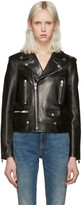 Saint Laurent Black Leather Motorcycle Jacket