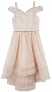 Speechless Big Girls Off-The-Shoulder Lace Dress