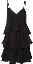 Paul & Joe Florenti Tiered Silk-blend Cloqué Mini Dress - Black