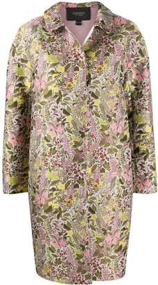 Giambattista Valli Floral Jacquard Single-Breasted Coat