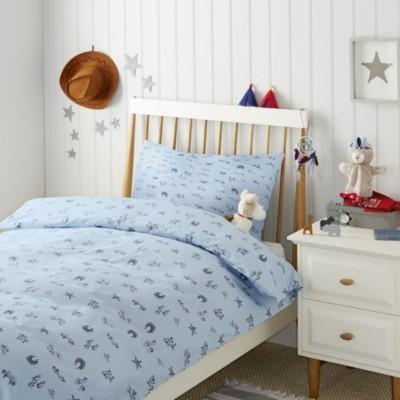 Wild West Bed Linen, Blue, Standard