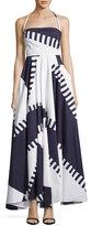 Milly Sleeveless Spinnaker Apron Dress, Navy