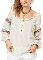 O'Neill Calla Embroidered Sleeve Blouse