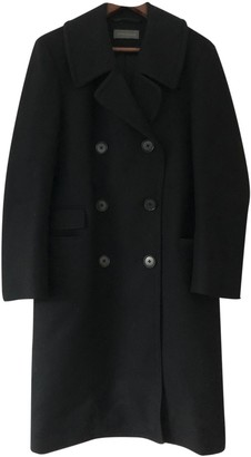 Lemaire Black Wool Coats