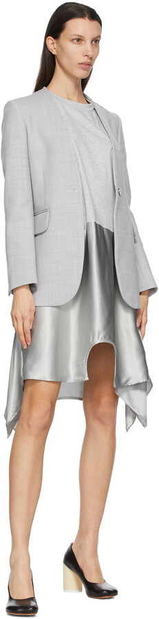 Thumbnail for your product : MM6 MAISON MARGIELA Grey Duel Tee Dress
