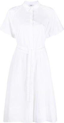 Peserico Tie-Waist Shirt Midi Dress