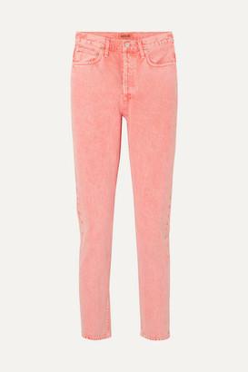 A Gold E Agolde AGOLDE - Jamie Cropped High-rise Slim-leg Jeans - Peach