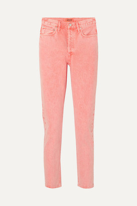 AGOLDE Jamie Cropped High-rise Slim-leg Jeans - Peach