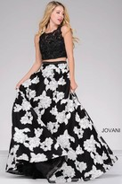 Jovani Embroidered Two-Piece A-line Prom Dress 47746