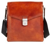 Bosca Men's 'Man Bag' Leather Crossbody Bag - Brown