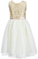 Jayne Copeland Big Girls 7-12 Brocade Mesh-Skirt Dress