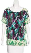 Thakoon Silk-Blend Printed Top
