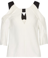 Roland Mouret Robyn Cutout Stretch-crepe Top - Ivory