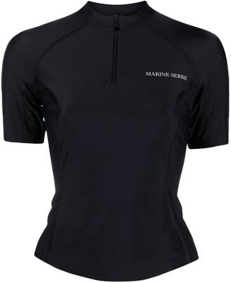 Marine Serre chest logo-print T-shirt