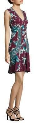 Roberto Cavalli Floral-Print Jersey Dress