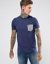 Lyle & Scott Contrast Pocket T-Shirt Navy