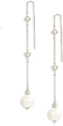 Anzie Cleo Pearl Chain Threader Earrings
