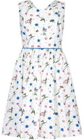 Yumi Flower And Bee Print Skater Dress