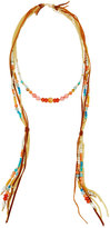 Nakamol Long Beaded Leather Necklace, Peach