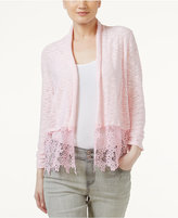 INC International Concepts Lace-Trim Cardigan, Created for Macy's
