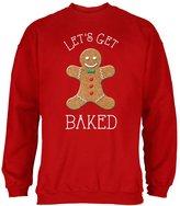 Old Glory Christmas Gingerbread Man Let's Get Baked Adult Sweatshirt