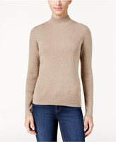 Karen Scott Marled Mock-Neck Sweater, Only at Macy's