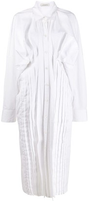 Nina Ricci Ruched Side Shirt Dress