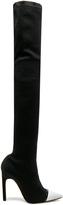 Givenchy Rib Knit Cap Toe Boots