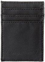 Dickies Men's Slim Front Pocket Wallet with Metal Money Clip