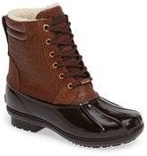MICHAEL Michael Kors Women's Easton Lace-Up Faux Shearling Lined Duck Boot