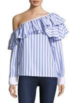 Clu Ruffle Stripe Top