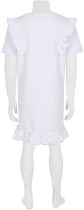 River Island Girls UniqueFrill Sleeve T-Shirt Dress -White